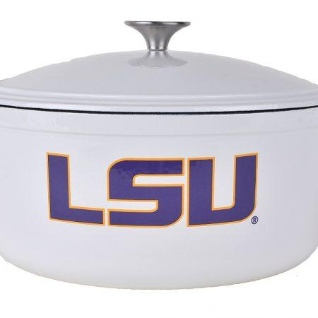 Louisiana State University Dutch Oven (White)